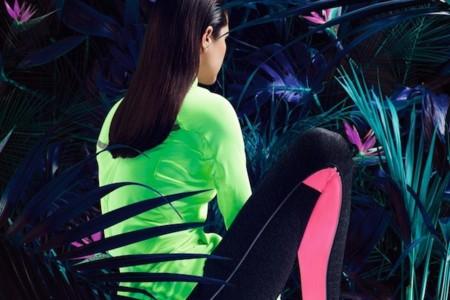 oysho gym ss 2014 chaqueta verde neon