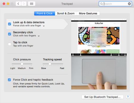 Mac Force Click Trackpad Pointclick Prefs