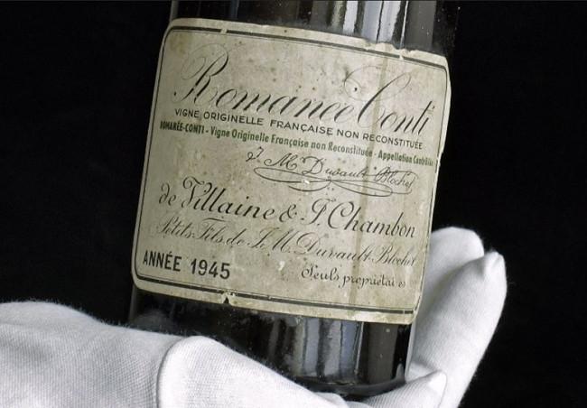 La botella de vino tinto más cara del mundo es un Romanée-Conti de 1945 y acaba de ser subastada por 558,000 dólares