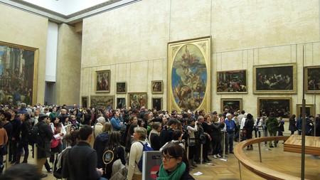 Gioconda multitud Louvre