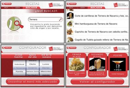 Reyno Gourmet en el iPhone