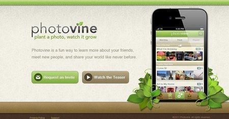 pantalla de Photovine.com