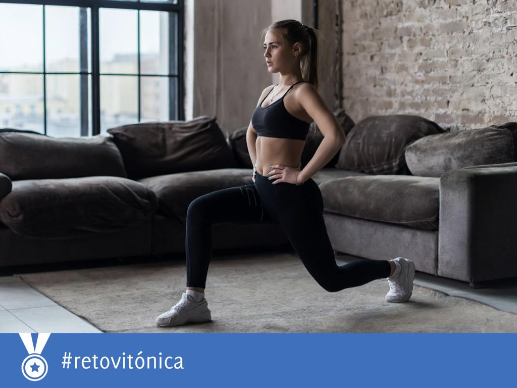 #RetoVitónica: en forma en casa con siete ejercicios