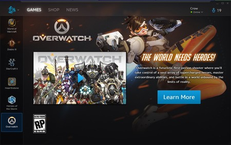 Overwatch Battle Net Page
