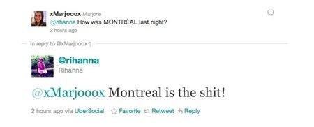 """Rihanna y su """"umbrella"""" de marcha por Montreal. ¡Qué no se diga!"""