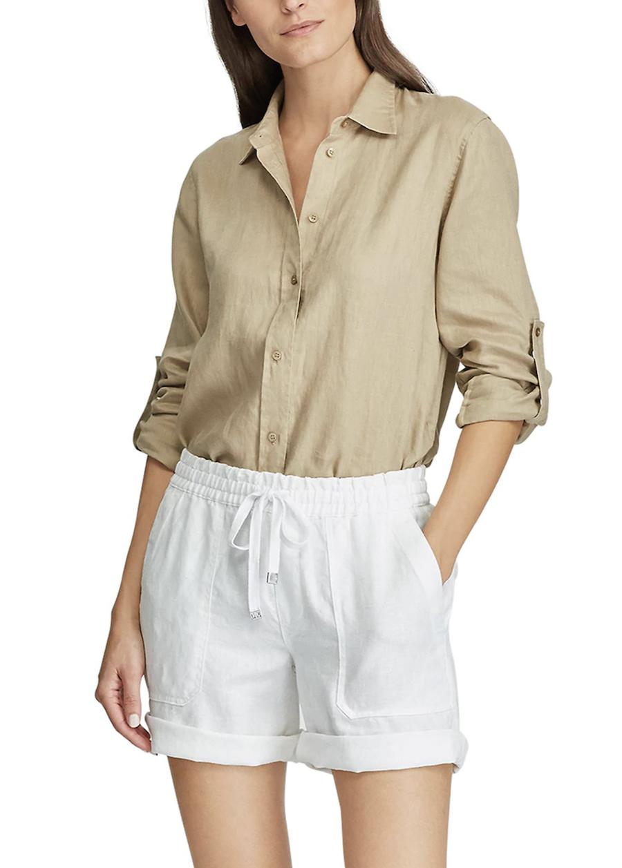 Short de mujer liso con bolsillos