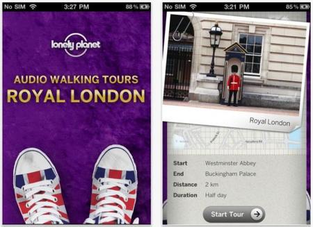Aplicaciones viajeras: Ruta real por Londres