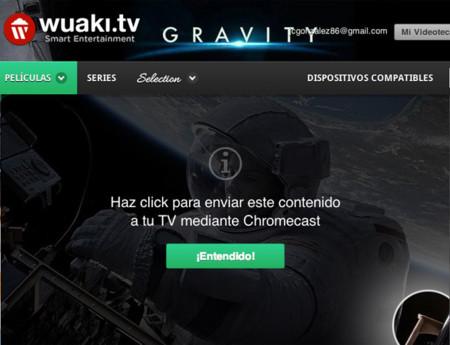 Wuaki empieza a dar soporte a Chromecast a través de su página web