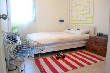 Hazlo tú mismo: pinta un laberinto en el cabecero de tu cama