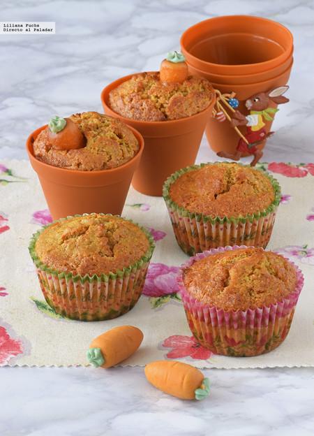 Muffins de zanahoria y almendra de Pascua. Receta de Semana Santa