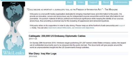 "Wikileaks desvela que EEUU presionó a España para endurecer la ""Ley Sinde"""