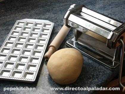 raviolis de calabaza herramientas