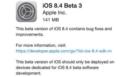 Apple lanza la tercera beta de iOS 8.4 mientras sigue puliendo la nueva app de Música