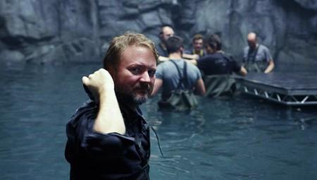 Rian Johnson durante el rodaje