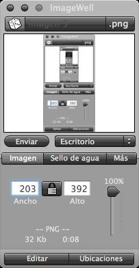 ImageWell v3.2 soporta flickr e ImageShack