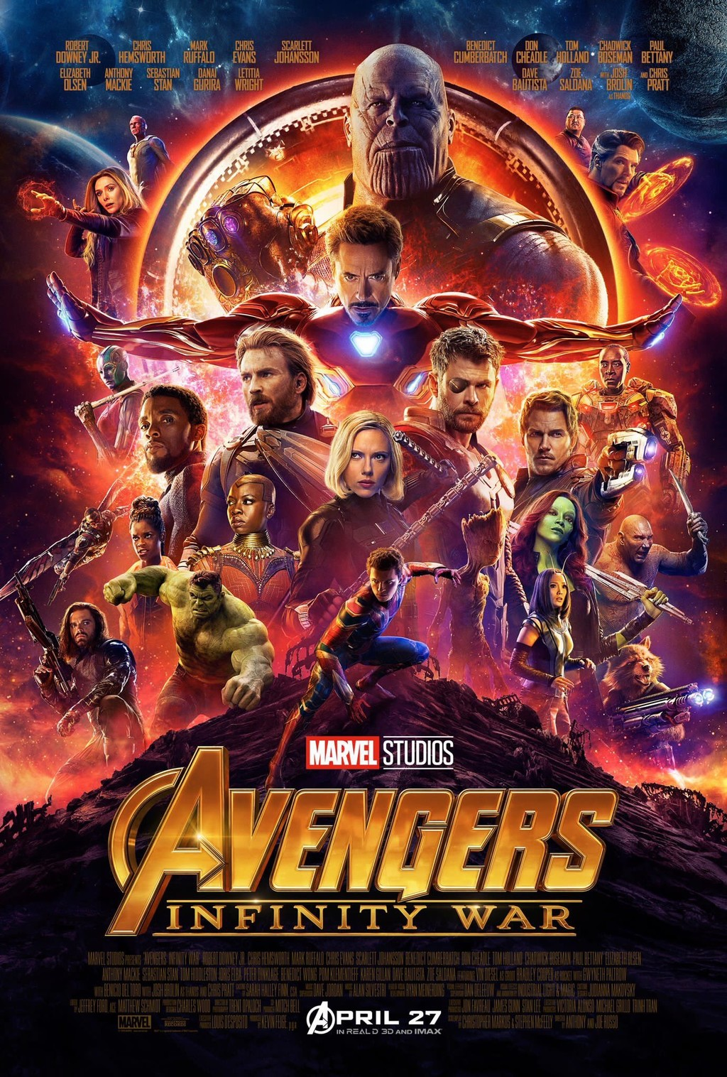 Cartel Vengadores Infinity Wa
