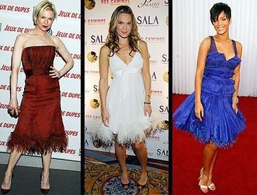 Vestidos con plumas: ¿sí o no?