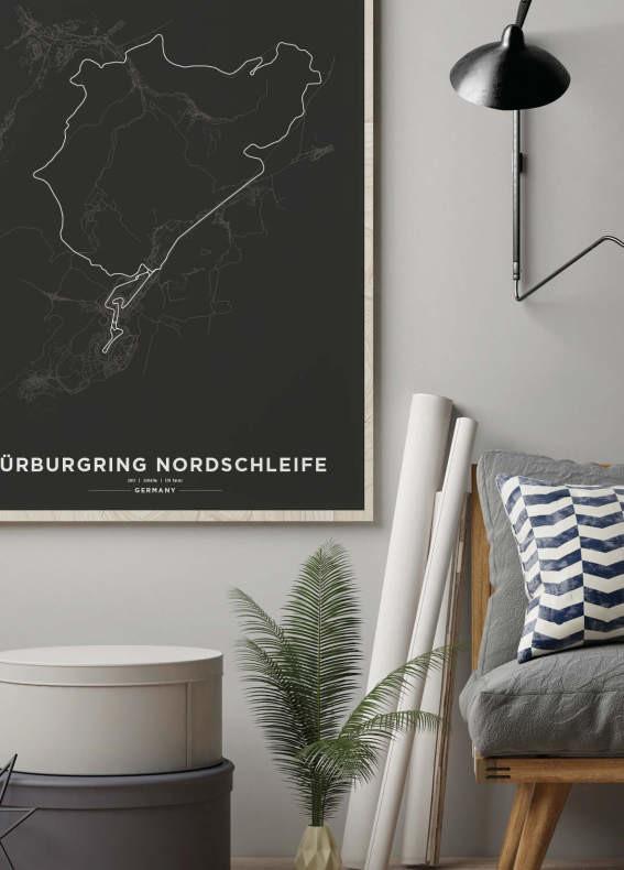 Regalos para hombres que le gustan los coches Nürburgring Nordschleife cuadro