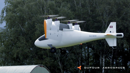 Este eVTOL es un avión eléctrico capaz de despegar y aterrizar en vertical, y lo demuestra en vídeo