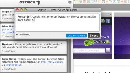 ostrich extensión twitter safari apple tweet mensaje