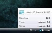 Windows Vista: poner más de un reloj