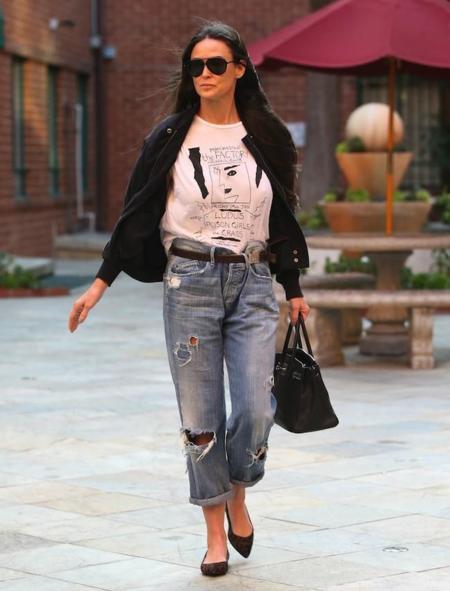 Demi Moore Boyfriend Jeans