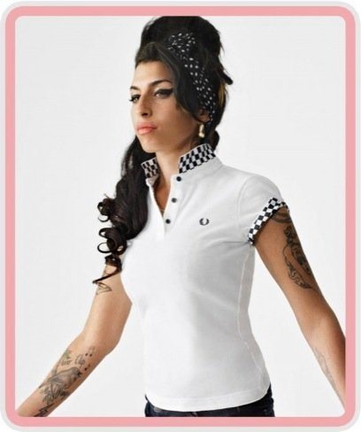 Amy Winehouse para Fred Perry: blanco