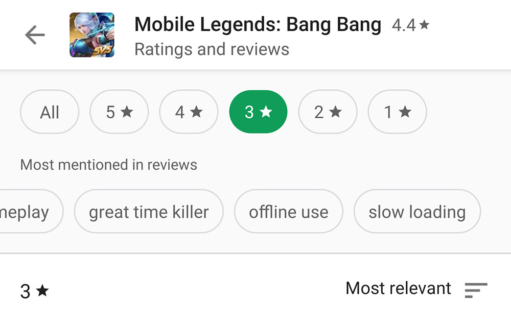 Google Play Store renews the section of assessments and opinions: you can filter by rating