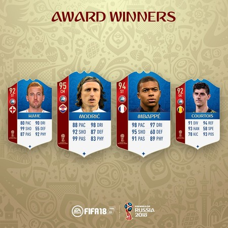Las cartas en FIFA18 de los mejores jugadores del Mundial
