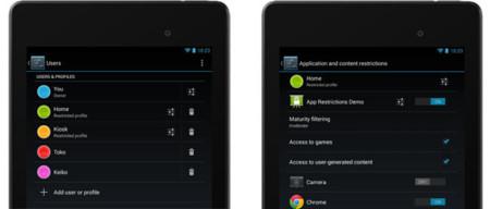 Perfiles restringidos en Android 4.3