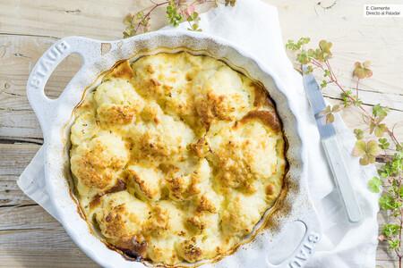 Coliflor gratinada al horno con queso, receta sencilla para enamorarte de esta saludable verdura