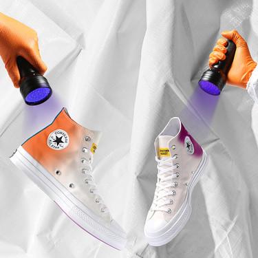 Zapatillas que necesitan tomar el sol para coger color: las nuevas tonalidades de Converse son visibles solo con luz ultravioleta