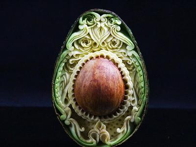 Comida de EsCultura: Daniel Barresi y sus impresionantes tallados en frutas y verduras