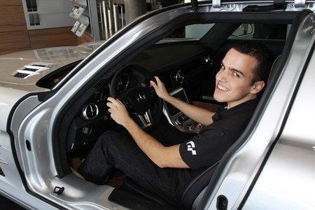 Marco Calvo y su Mercedes SLS AMG