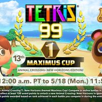 Tetris 99 dedicará su nuevo evento a Animal Crossing: New Horizons para desbloquear un tema nuevo