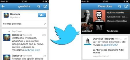 Twitter actualiza su aplicación móvil en iOS y Android mezclando el tipo de contenido de cada sección