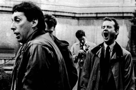 Ivan Reitman y Bill Murray en el rodaje