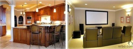 Cocina y sala de cine de Miley Cyrus