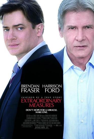 'Extraordinary Measures', con Harrison Ford y Brendan Fraser, tráiler y carteles