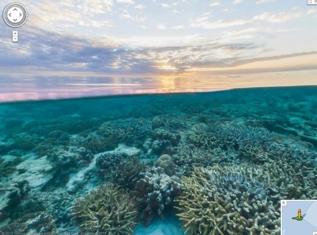 Arrecife al atardecer