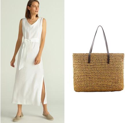 vestido blanco y cesto