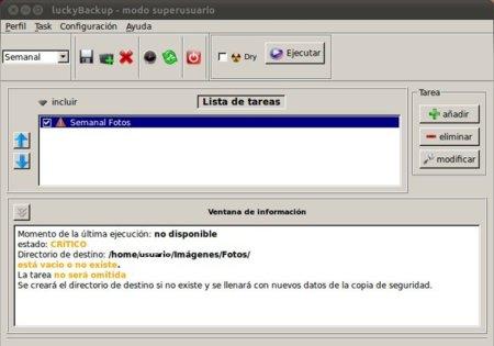 LuckyBackup, un completo y sencillo sistema de copias de seguridad para Linux