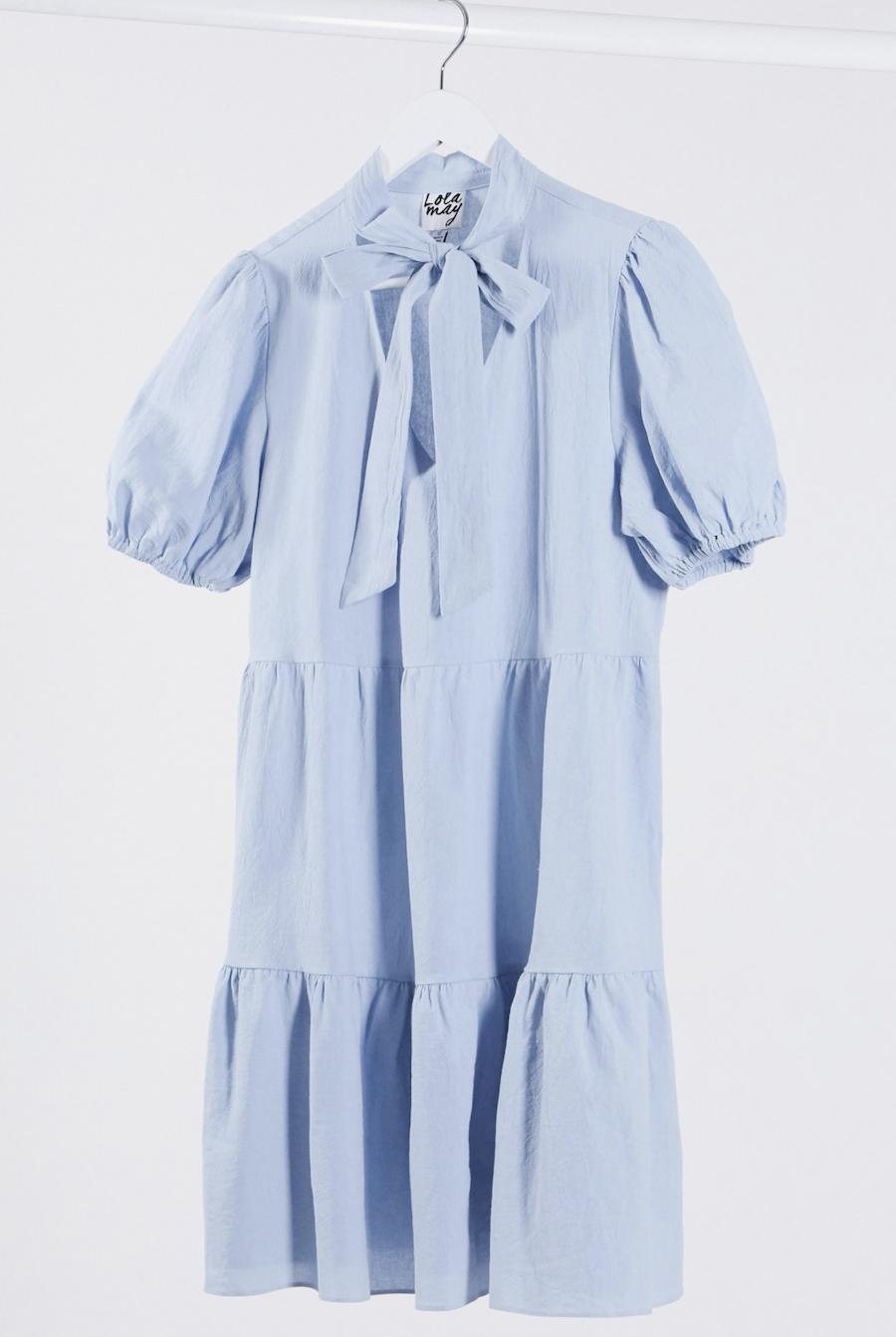 Vestido amplio con detalle anudado de Lola May