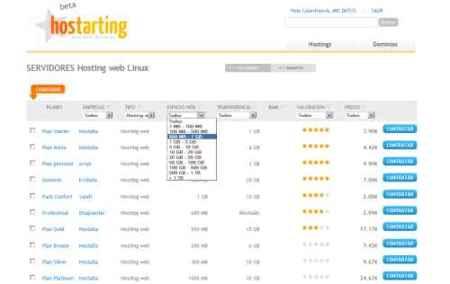 Hostarting, busca el mejor servicio de hosting que se adecue a tus necesidades