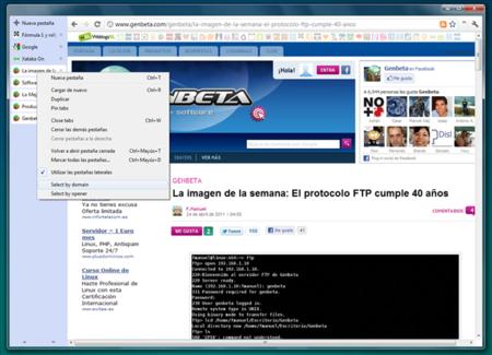 Chrome añade selección de pestañas, una página de Nueva pestaña rediseñada y más