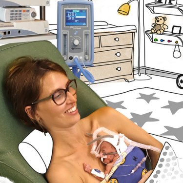 """""""Contigo, como en casa"""", la campaña del Hospital Vall D'Hebron de Barcelona para humanizar la atención del bebé prematuro y su familia"""