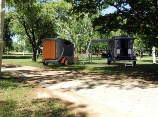 Foto de Habitaciones compactas para llevar como remolque al campo (4/5)