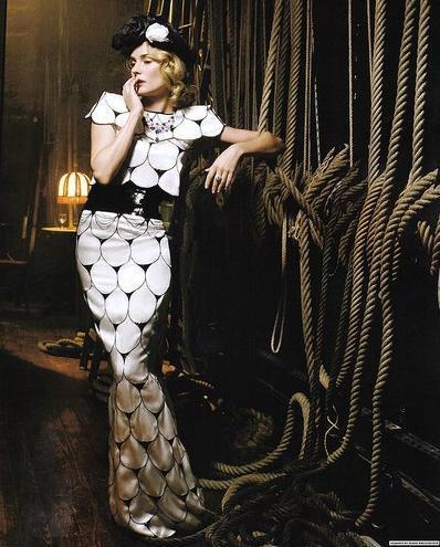 Diane Kruger de Alta Costura para Vogue Italia mayo 2009