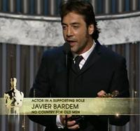 Oscars 2008: Actor de reparto para Javier Bardem