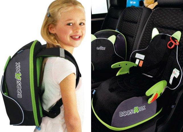 Boostapak mochila y elevador para el coche todo en uno for Sillas para ninos para el coche
